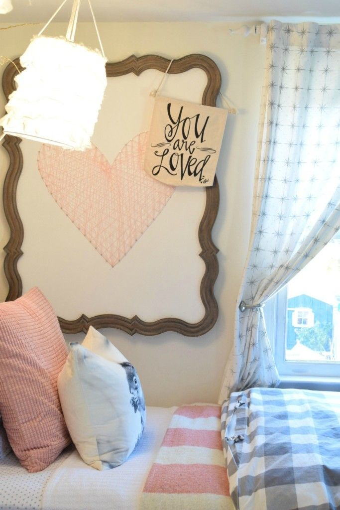 String art DIY and bedroom tour. Easy ways to add charm to any space.
