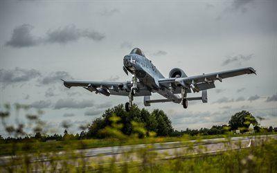 Scarica sfondi Fairchild Republic A-10 Thunderbolt II, American attacchi aerei dell'aviazione militare US Air Force