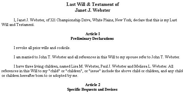 printable sample last will and testament template form real estate forms pinterest ideas. Black Bedroom Furniture Sets. Home Design Ideas