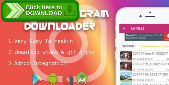 [ThemeForest]Free nulled download Repost for instagram with Admob native from http://zippyfile.download/f.php?id=52430 Tags: ecommerce, download video instagram, Downloader video instagram, instagram, instagram download video, Instagram Downloader, instagram video, Instagram video download, instagram video downloader, instasave, repost, repost instagram, snaptube, tubemate, video, video download instagram