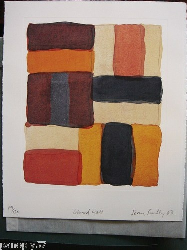 "Limited Edition ""SEAN SCULLY"" Book w/ SIGNED LITHOGRAPH ""Coloured Wall"", #89/150 