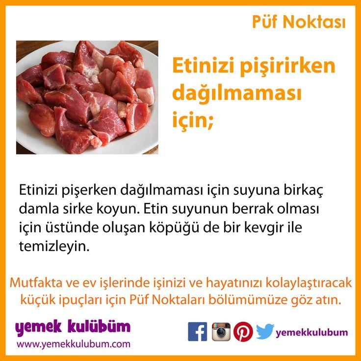 YEMEK YAPMANIN PÜF NOKTALARI : Etin pişerken dağılmaması için... http://yemekkulubum.com/puf-noktasi-liste/yemek-hazirlama-ile-ilgili-puf-noktalari  #et #etyemeği #yemek #yemekhazırlama #etyemekleri #yemekyapma #püfnoktası #püfnoktaları #pratikbilgiler #ipucu #ipuçları