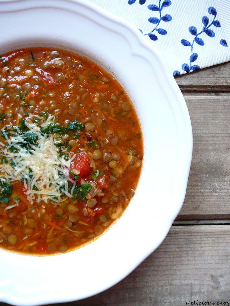 Delicious blog: Italská čočková polévka