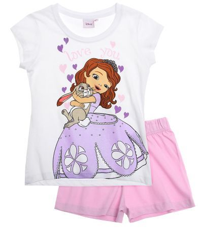 Disney Sofia the First Short Sleeve Pyjama pink