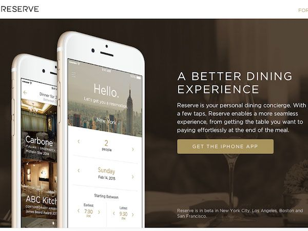 予約から決済まで!厳選レストランでの心地よい夕食をサポートしてくれるアプリ「Reserve」