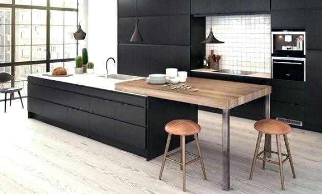 Ilots Centrale Cuisine Bar Cuisine Ikea Elegant Cuisine Ikea Ilot Central Bar Roubaix Sol Inoui Un Plan De Cuisine Noire Cuisines Design Cuisine Contemporaine