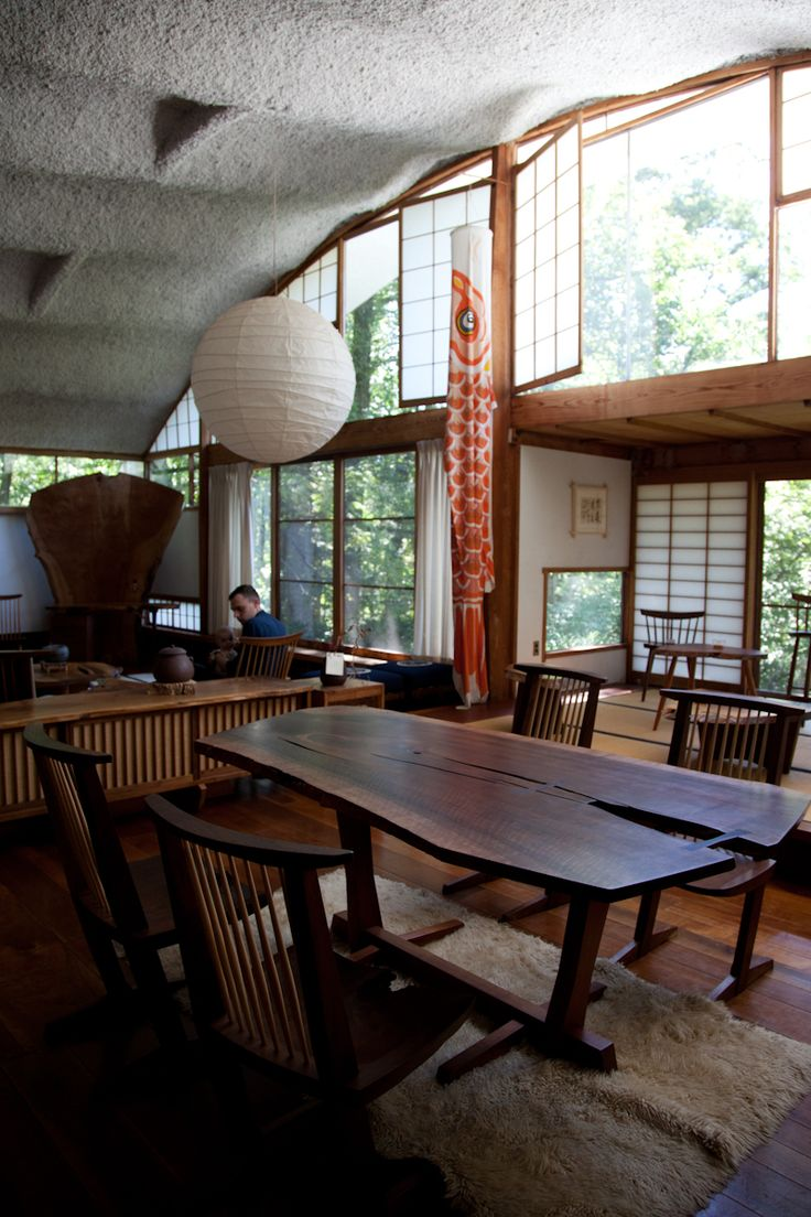 george nakashima studio in new hope pa the conoid showroom george nakashima studio in new hope pa the conoid showroom mid century modern 1933 1965 pinterest