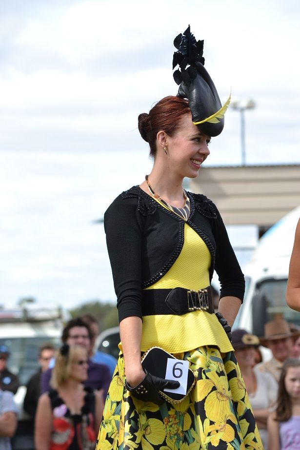 Ashleigh Barri's winning Tatura Easter Cup Day outfit in 2013  Tatura - Shepparton - Racing - Fashions