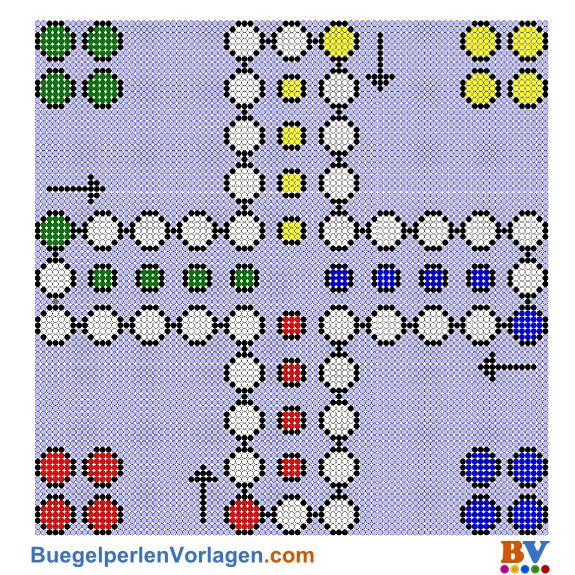 Na sowas! Brettspiele als Bügelperlen-Vorlage... was es nicht alles gibt ;) gefunden bei buegelperlenvorlagen.com