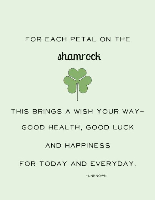 Love this St. Patrick's Day quote - and it's a downloadable free printable, too!  From Visual Eye Candy's blog...