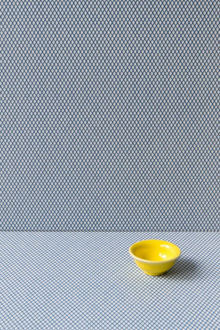 Porcelain stoneware wall/floor tiles ROMBINI CARRÈ LIGHT BLUE by MUTINA design Ronan & Erwan Bouroullec