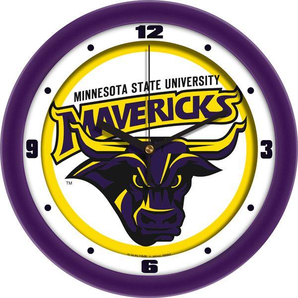 NCAA Minnesota State Mankato Mavericks-Traditional Wall Clock