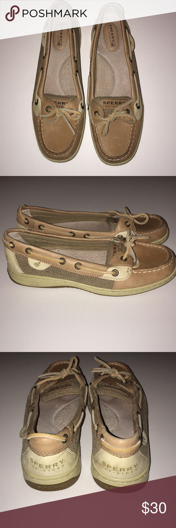Sperry Womens Angelfish Boat Shoes Super comfy Sperry's boat shoes Worn twice- small scratches but barely noticable-still in good condition Sperry Shoes Flats & Loafers