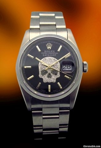 Rolex Datejust Custom Skull Dial Jewelry Pinterest