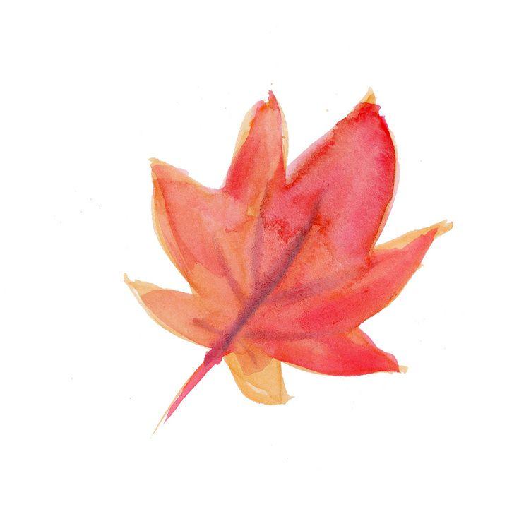 水彩画の紅葉。紅葉のイラストのアイデア