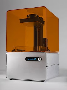 Formlabs, an up a coming low cost 3D printer that uses the older tried and true liquid stereo lithogrphy technologies.