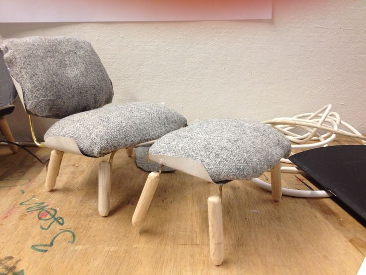 model 1:5, sketch, wood metal wool, lounge furniture design.