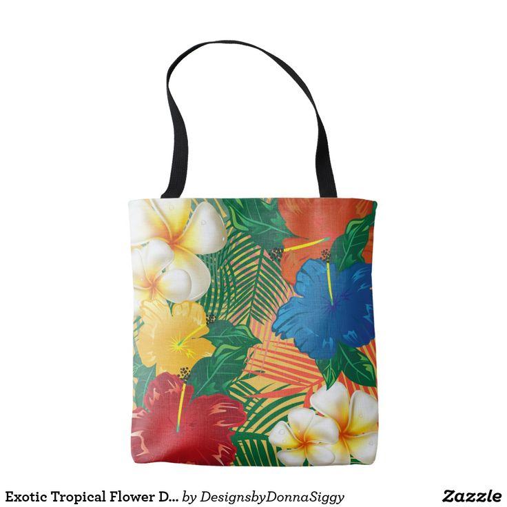 Exotic Tropical Flower Design