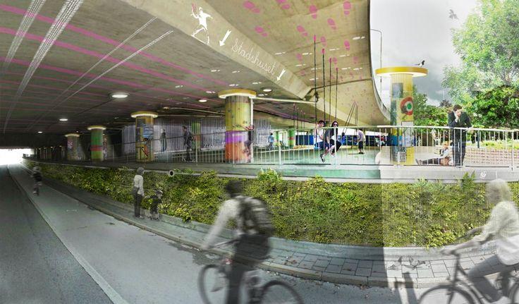 URBIO - Platsskräll är en slags urban akupunktur. Ytor i staden som varit negligerade kan med små medel bli till sprakande stadsrum; ett nätverk av aktivitetshubbar, myllrande vildmarksfickparker och temporära mötesplatser. Denna struktur av flexibla stadsrum ska inte på något sätt ersätta de traditionella offentliga rummen i staden, men erbjuda ett alternativ av små, spännande platsskrällar som smaksätter livet i den täta staden. Kan Södermalms bergsväggar bli till spännande vertikalparker…
