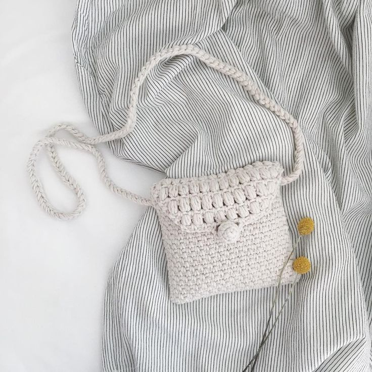 Small crochet bag - Summer bag beige #handmade