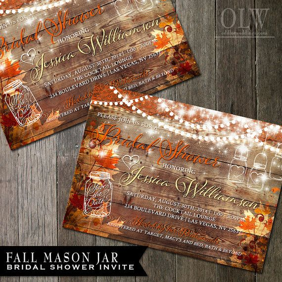 Hey, I found this really awesome Etsy listing at https://www.etsy.com/listing/203547299/rustic-fall-bridal-shower-invitation
