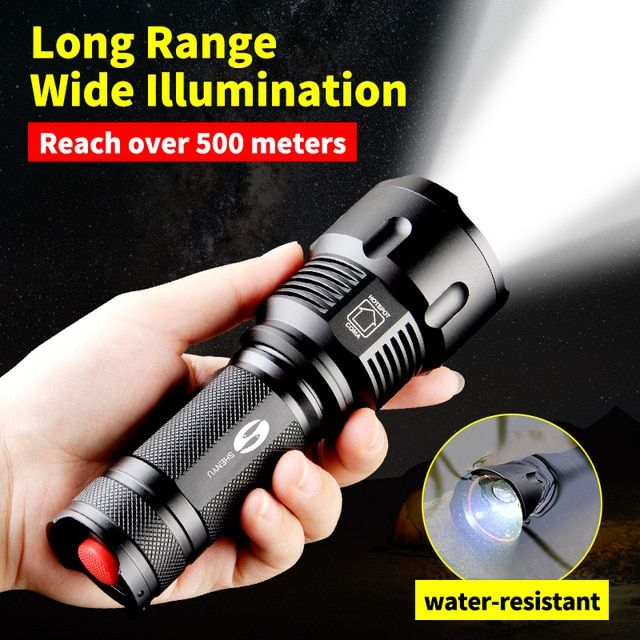 Shenyu Powerful Tactical Led Flashlight Cree T6 L2 Zoom Waterproof Torch For 26650 Rechargeable Or Aa Battery Tactical Led Flashlight Led Flashlight Flashlight