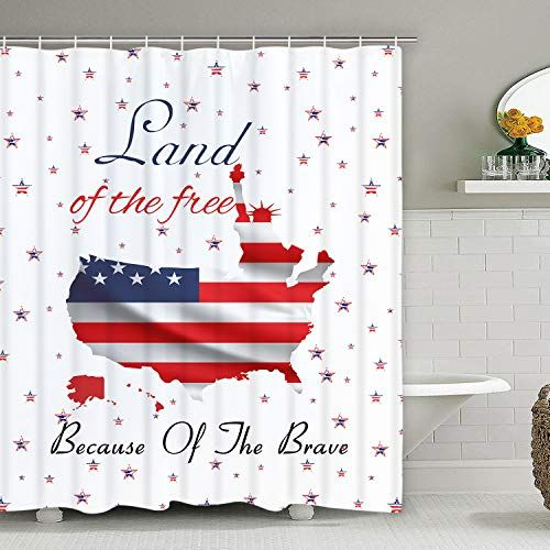 Bleum Cade Independence Day 4th Of July Shower Curtain Holiday