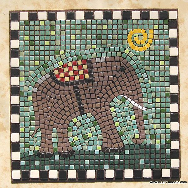 33 best images about mosaic elephants on pinterest for Mosaic tiles for craft