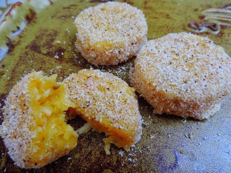 come-se: Bolinho cremoso de mandioca com cenoura no vapor. Quinta sem trigo