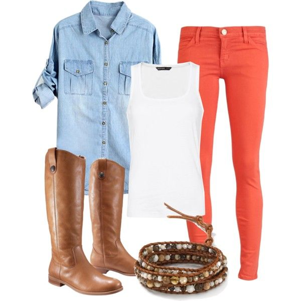 """Fall brights"" by small-town-country-gurl on Polyvore"