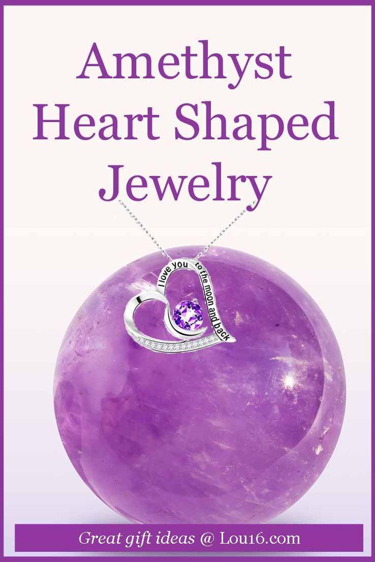 amethyst heart shaped jewelry february birthstone