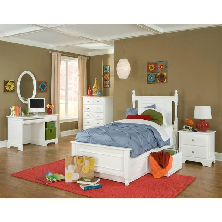 Best Homelegance Morelle Bedroom Set With Twin Trundle In White 400 x 300