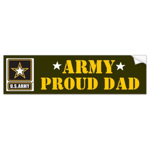 Us army dad bumper sticker