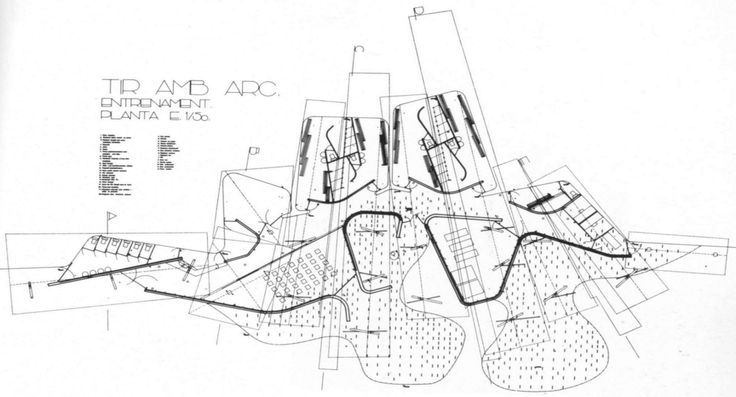 Image 2 of 17 from gallery of AD Classics: Olympic Archery Range / Enric Miralles & Carme Pinos. Courtesy of the Architects