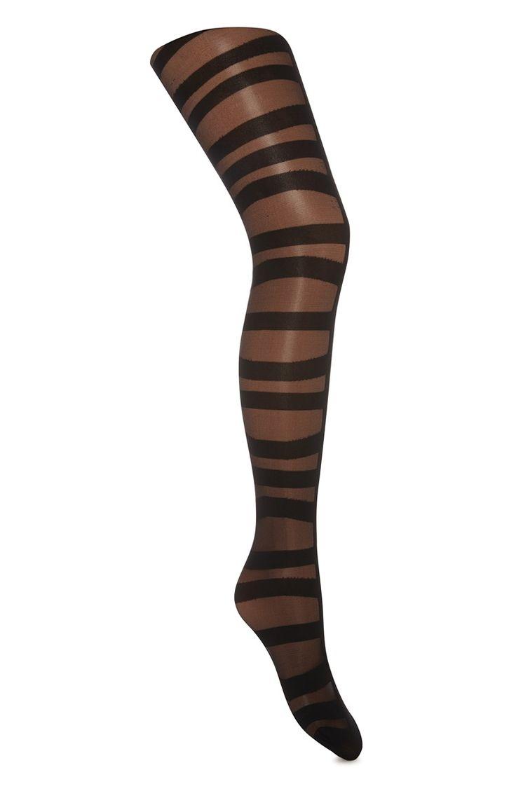 Primark - Zwarte panty in traliepatroon