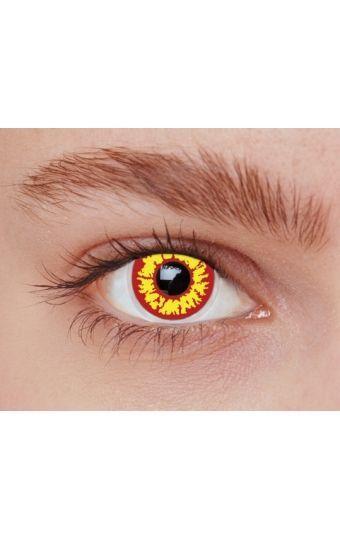 Optez pour les lentilles de contact fantaisie Red Wolf pour une transformation spectaculaire de votre regard !  La touche finale pour compléter vos déguisements de vampires, ou à l'occasion de soirées sur les thèmes Gothique, Halloween, ou pour des événements cosplay !