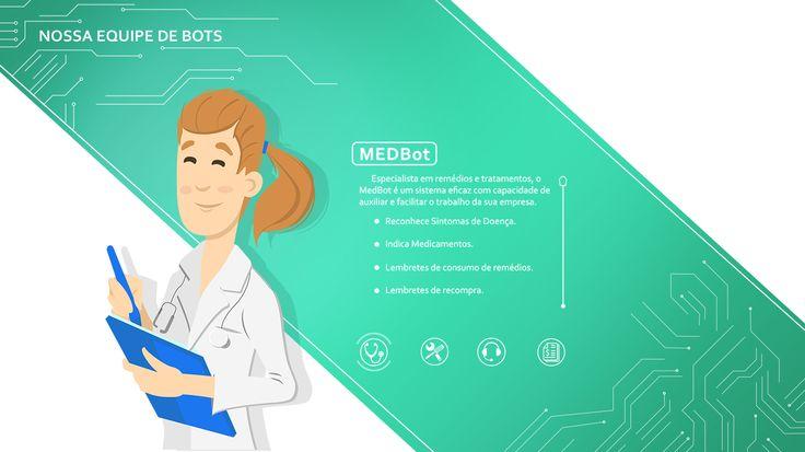 Ilustração – Avatar Medbot Alabia – Augusto Galvão Ilustração