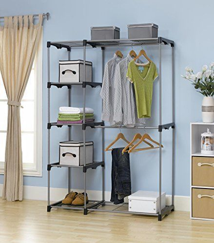 Portable Wardrobe Storage Organizer Home Garment Shelf Rod Pants Towels  Suits. Portable WardrobeWardrobe StorageWardrobe IdeasCloset ...