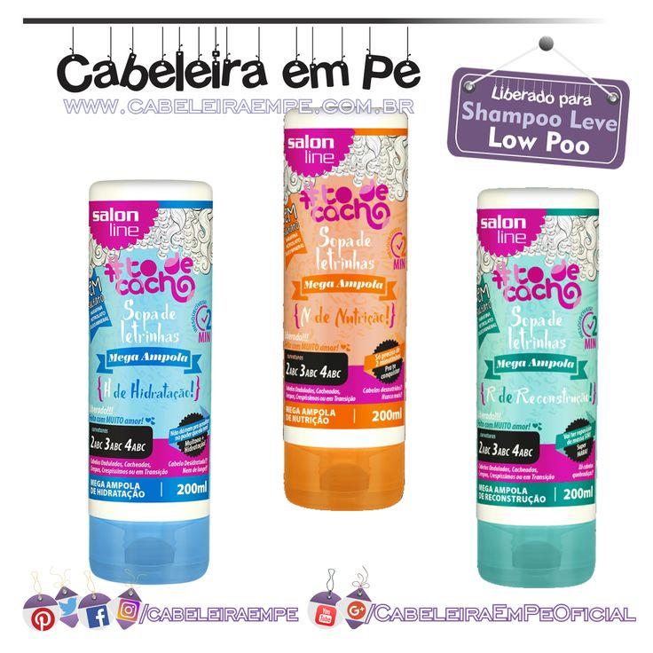 Mega Ampolas de Tratamento Sopa de Letrinhas Tô de Cachos - Salon Line (Hidratação, Nutrição e Reconstrução liberadas para Low Poo)