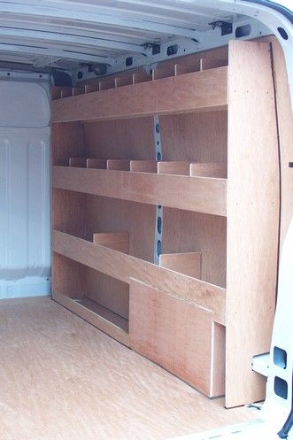 Vauxhall Movano/Renault Master - shelf plywood kit with dividers