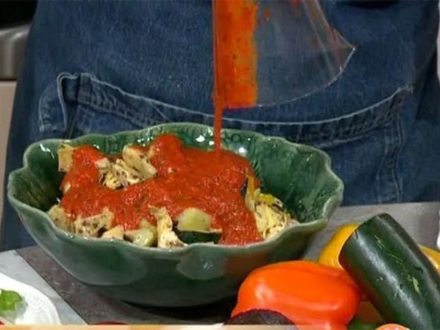 Paprika- och balsamicomarinerade grönsaker