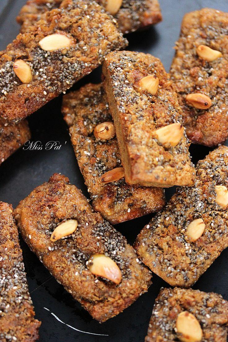 Petits gâteaux chia'mandine (vegan)