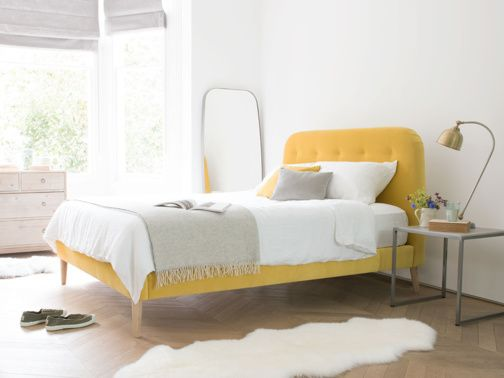 Our upholstered Napper bed has borrowed the slightly better parts of retro design and given swirly carpets and lava lamps a miss. Thank you 1970's!