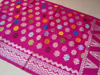 Songket (intricately brocaded silk) from Bali, Indonesia