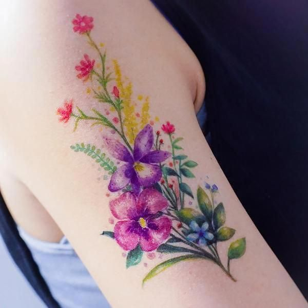Hawaiian Lei Tattoos Designs Hawaiiantattoos Boho Tattoos Watercolor Tattoo Flower Floral Tattoo