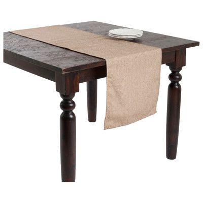 Alcott Hill Ezra Basket Weave Design Table Runner Size: