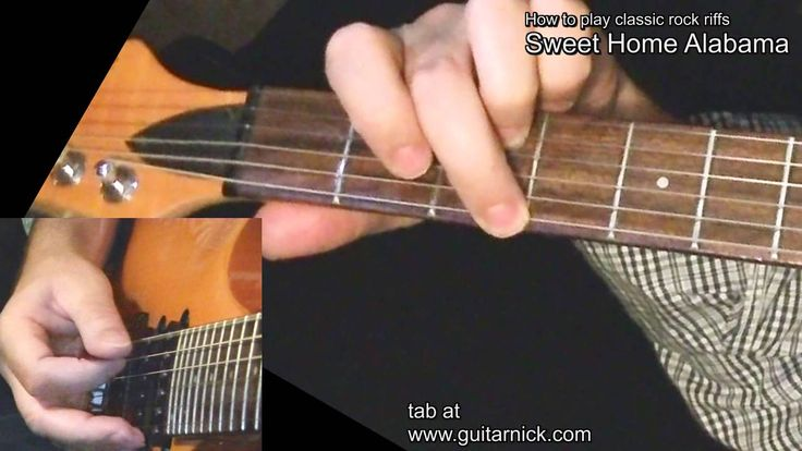 Sweet Home Alabama [WITH TAB] Guitar lesson! learn to play classic rock ...