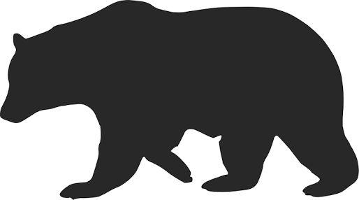 Image result for silhouette polar bear clipart