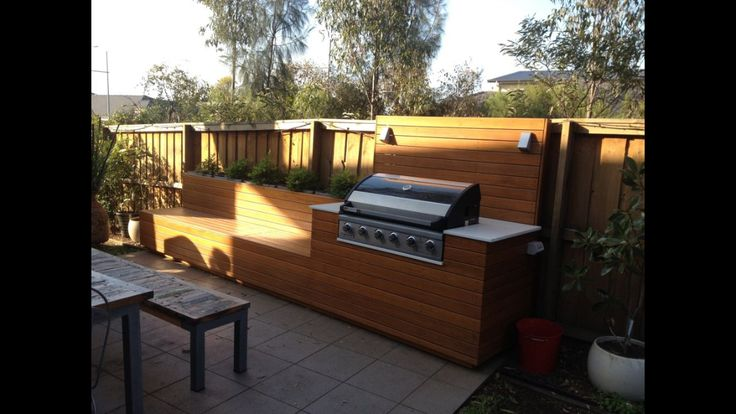 Built in BBQ in the garden.