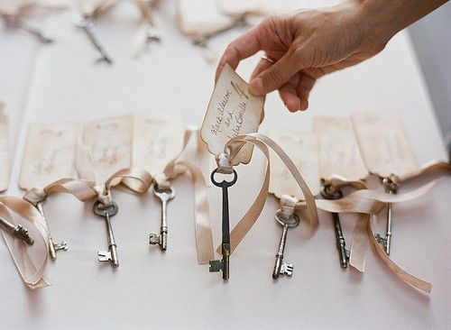 Key Favors >> 10 Creative Ways To Incorporate Keys Into Your Wedding
